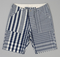 The_Hill-Side_Non_Repeating_Check_Oxford_Fatigue_Shorts_Indigo_White_SP1-321_L1